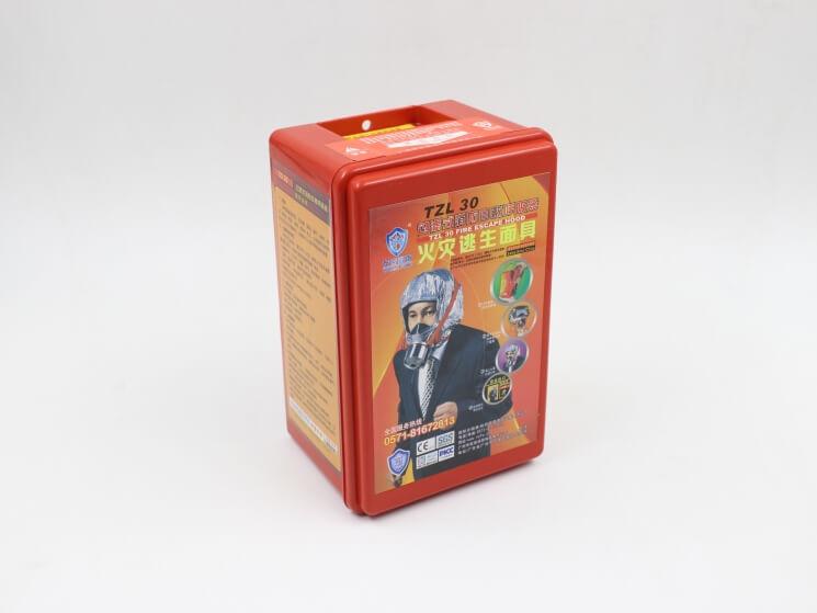 酒店客房必备防毒面具【消防过滤式自救呼吸器30分钟,新国标-消防包过】