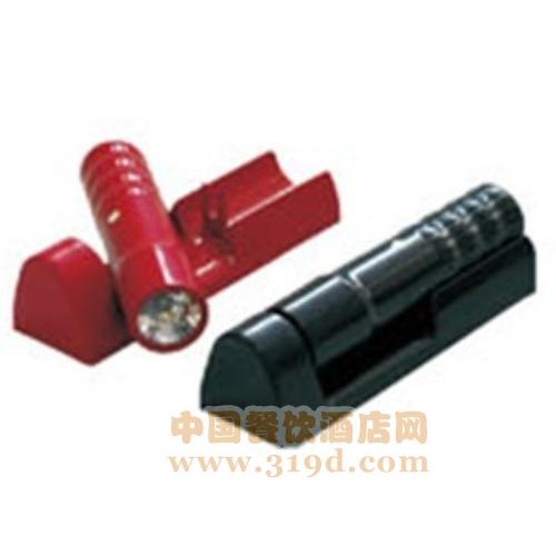 应急手电筒(壁挂式、红色/黑色、两节一号电池、210*65*50mm)