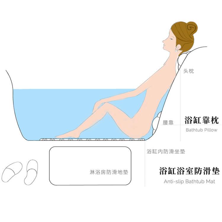 浴缸垫和浴缸枕的正确使用方法